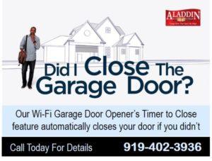 Wi-fi secure garage door opener durham NC