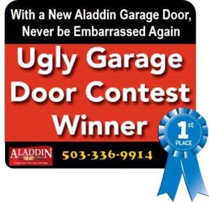outdated garage door graphic