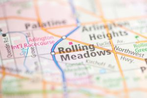 rolling meadows, IL on map
