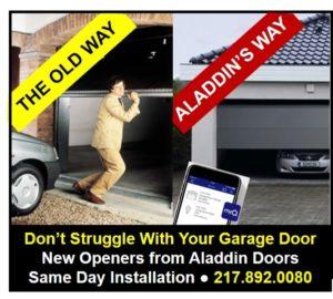 modern garage door technology graphic