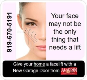 give your garage door a lift graphic