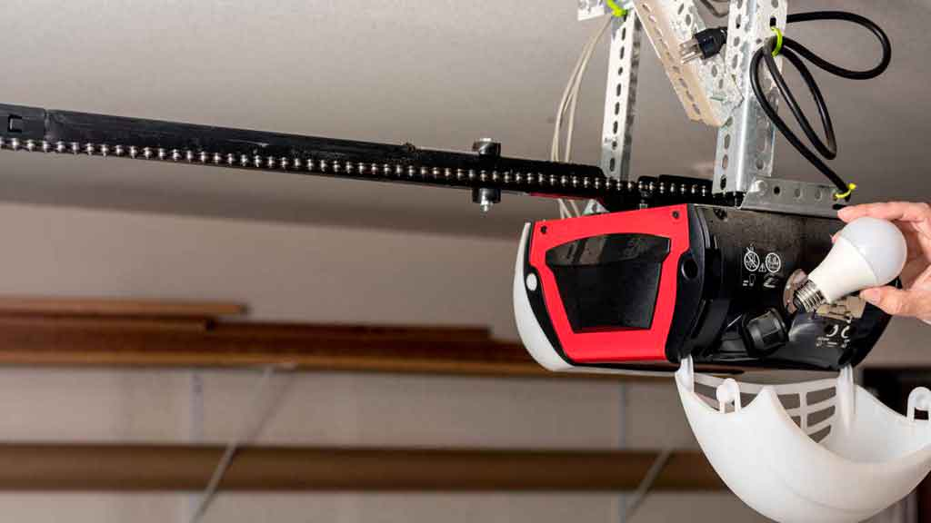 replacing lightbulb in garage door opener