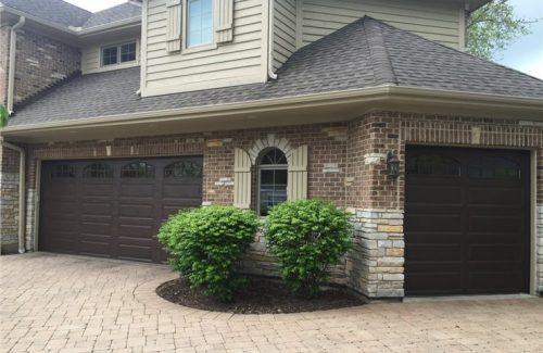 new garage doors on house