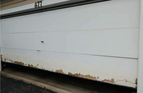 chipped garage door