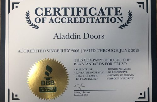 2006 certificate of accreditation award