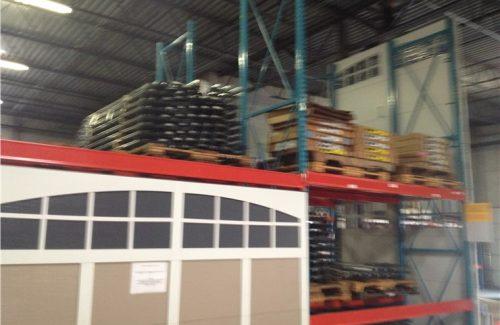 warehouse with garage door parts
