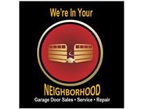 we're in your neighborhood, aladdin garage doors