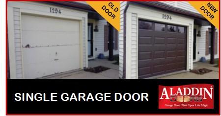 single garage door ad
