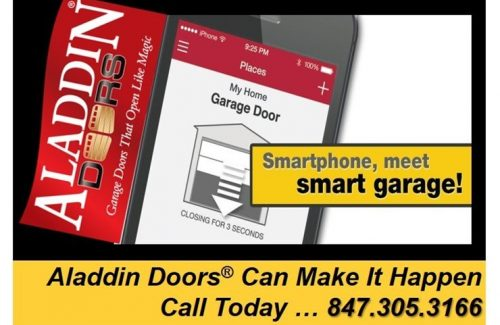 smartphone meet smart garage ad