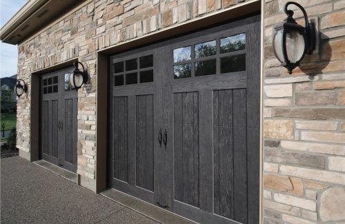 dark residential garage doors