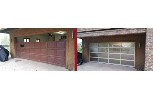 garage door replacement transformation