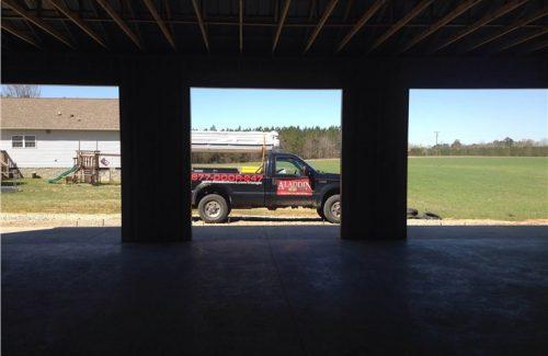 garage door prep