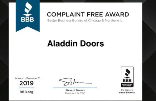 2019 bbb complaint free award