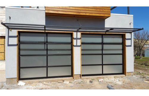 clear garage door installation