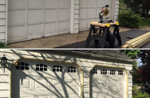 garage doors before and after