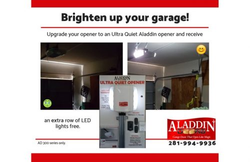 brighten up your garage