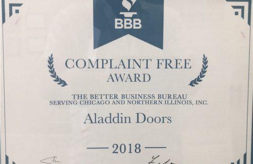 2018 complaint free award