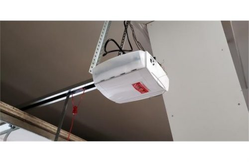 aladdin garage door opener attached to ceiling