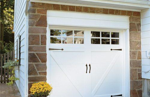 simple windowed garage door