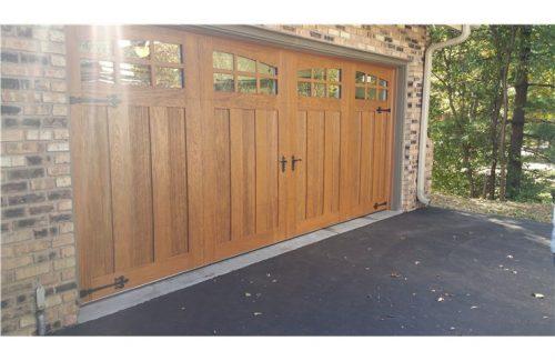 brown wooden garage door
