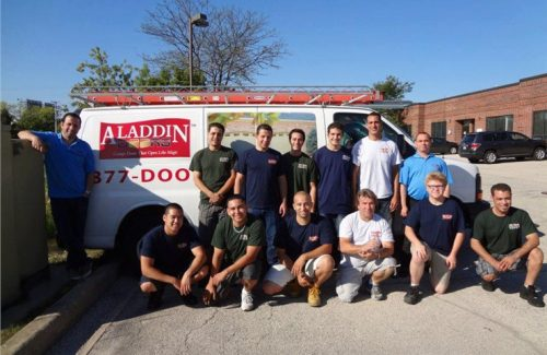 aladdin garage door crew