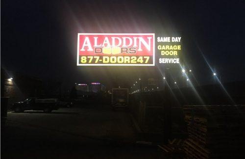 aladdin doors billboard