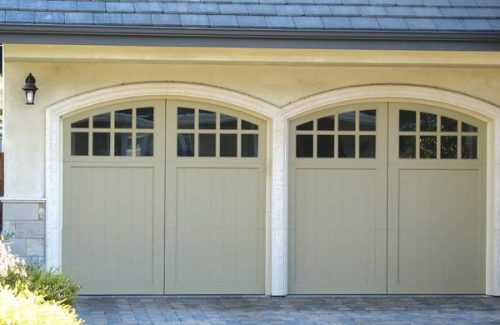 windowed garage door