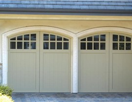 tan colored garage doors