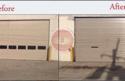 garage door replacement images
