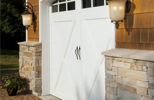 white garage door replacement