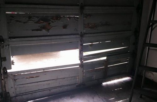 rotted garage door