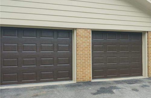 brown garage doors