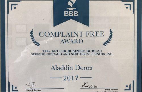complaint free award 2017