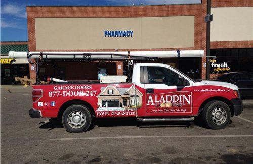 aladdin doors service truck