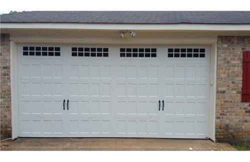 clean white garage door repair