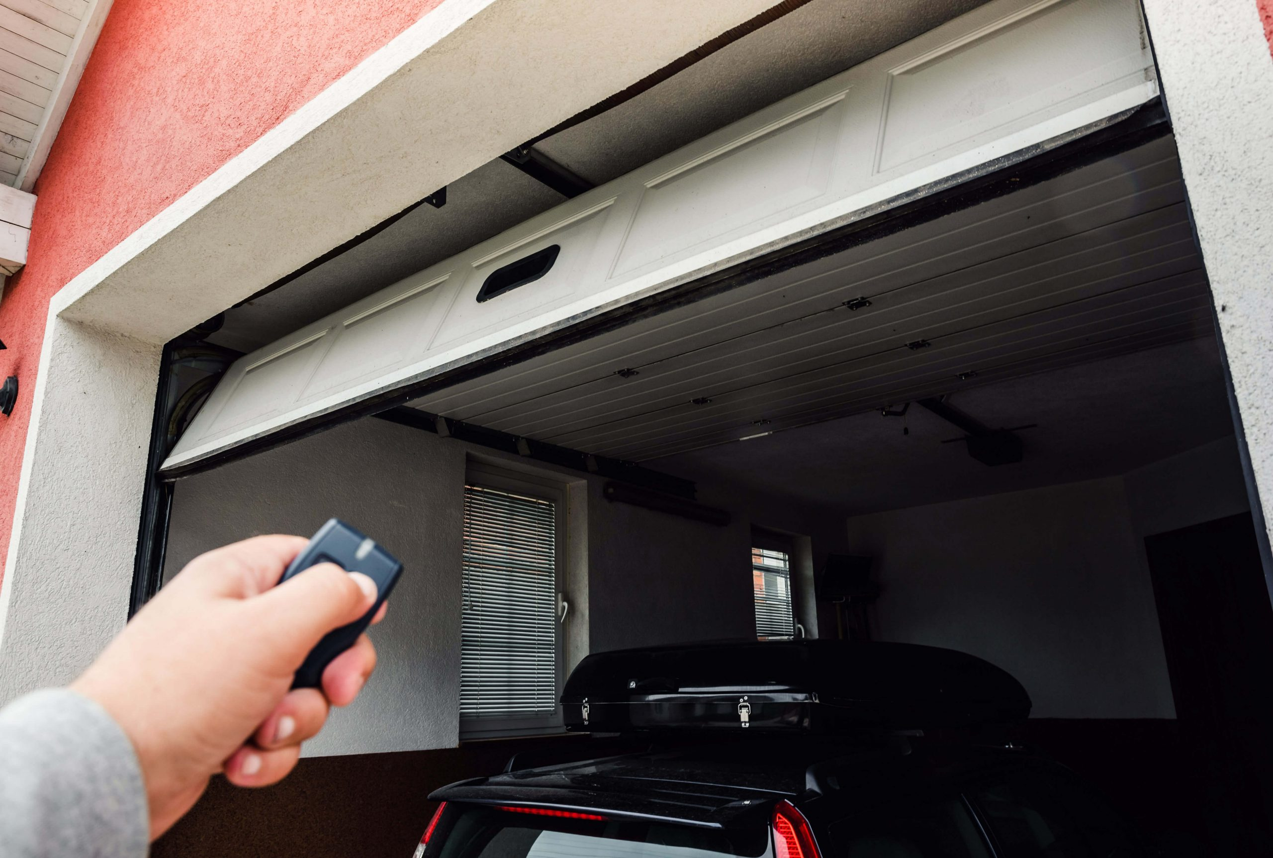 pointing remote at garage door opener