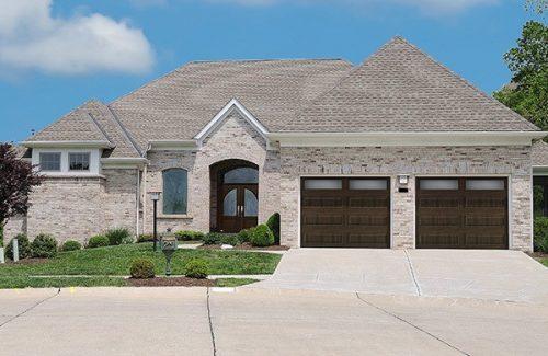model brown garage door