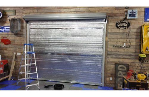 insulating garage door