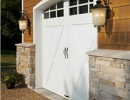 white carriage garage door