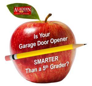 Garage door smarter than a 5th grader graphic