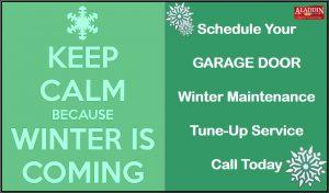 garage door winter maintenance graphic
