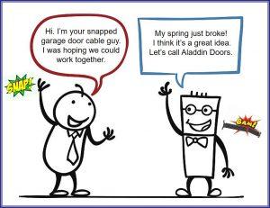 garage door cable spring replacement